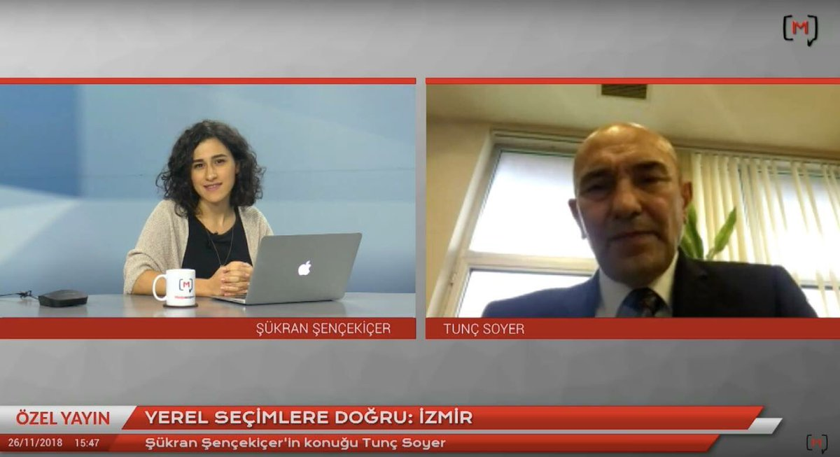 Şükran Şençekiçer durante un'intervista (dal web)