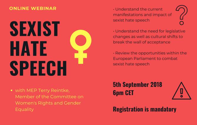 Webinar Sexist hate speech 5 settembre 2018, locandina.jpg