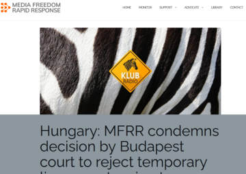 The call on MFRR homepage