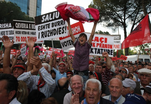 Protests in Tirana, Albania