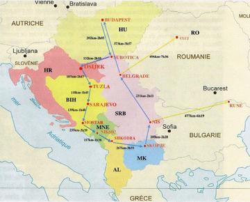 BalkanTour giovani giornalisti, mappa - da www.alda-europe.eu