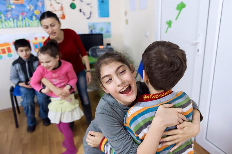 Un centro diurno di First Step Georgia per bambini con disabilità a Kutaisi (Foto © Onnik Krikorian)