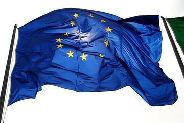 Bandiera europea, foto di DavideDeNova - Flickr.com
