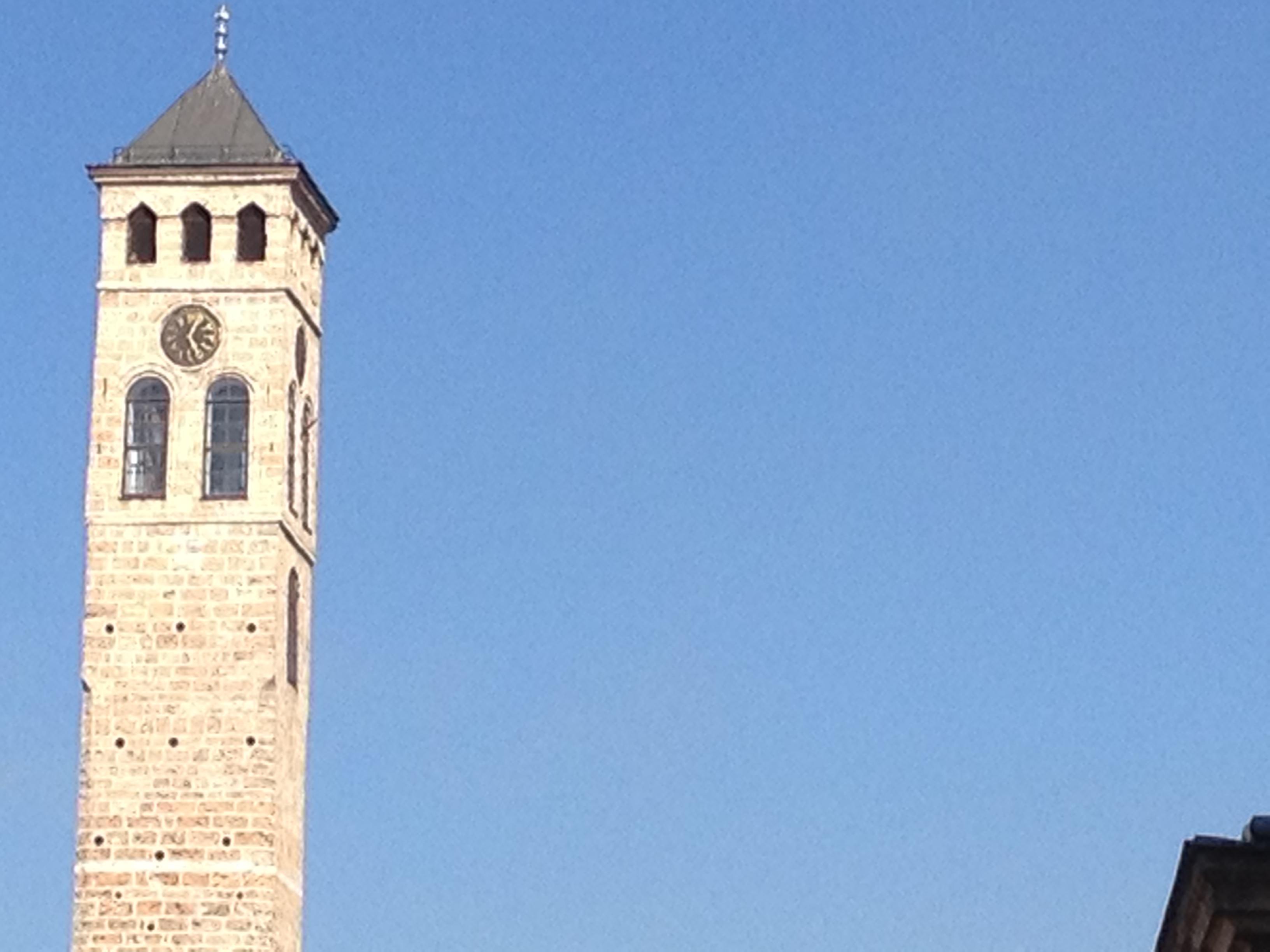 Sarajevo, la Torre dell'Orologio (Foto A. Rossini)