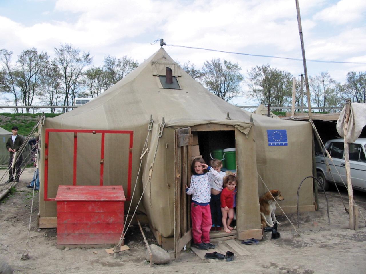 campo rifugiati ceceni