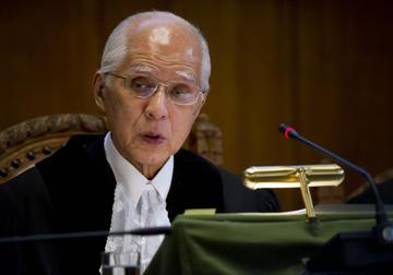 Hisashi Owada, presidente della Corte Internazionale dell'Aja