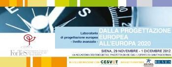 """Laboratorio di europrogettazione """"Dalla Progettazione Europea all'Europa 2020"""""""