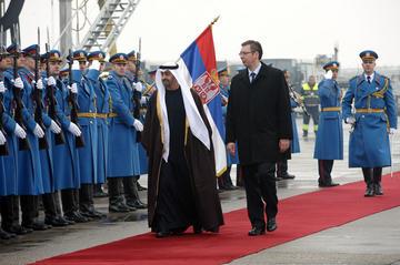 Lo sceicco Bin Zayed con Aleksandar Vučić