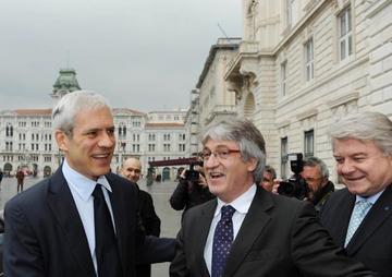 Boris Tadic e Renzo Tondo, Trieste 12 dicembre 2011