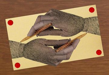 Mani che si disegnano, di Aldo Aldoz - Flickr.com