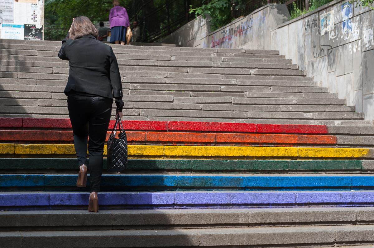 Il flash mob a Tbilisi (Foto Onnik Krikorian)