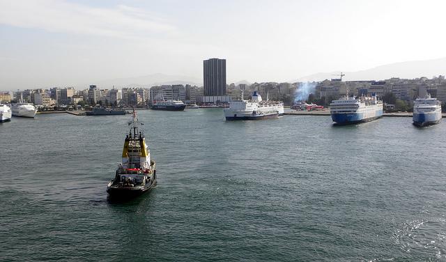 Il Pireo, veduta del porto
