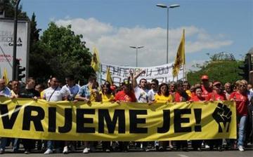 Proteste a Podgorica (E' ora!)