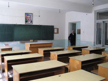 Un'aula in una scuola dell'Azerbaijan