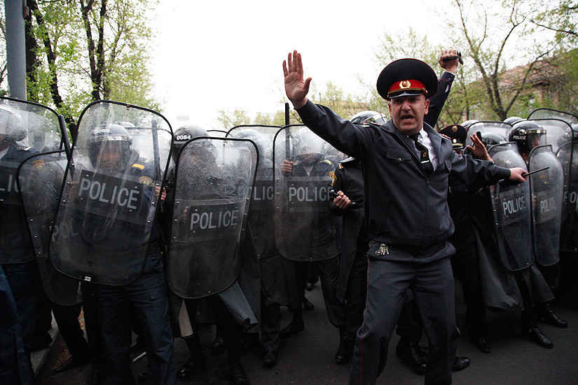 The April 9 protests in Yerevan (PanARMENIAN Photos)