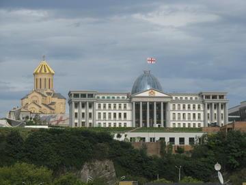 Tbilisi, il palazzo presidenziale (Foto Blackwych, Google)