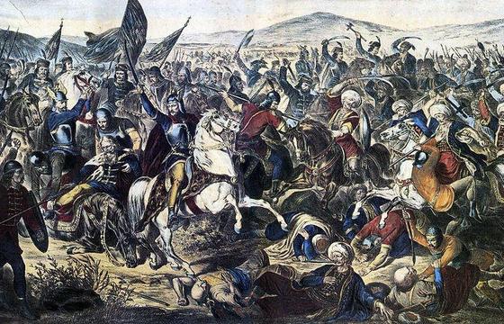 Una raffigurazione della Battaglia di Kosovo Polje