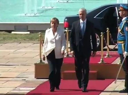 Angela Merkel e Boris Tadić