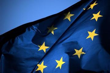 Bandiera europea al vento