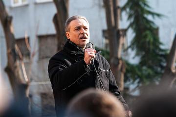 Branko Crvenkovski durante un recente comizio