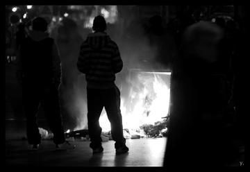 Manifestazione di solidarietà con i migranti in sciopero della fame, Atene, Grecia