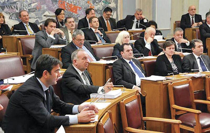 Seduta del parlamento montenegrino