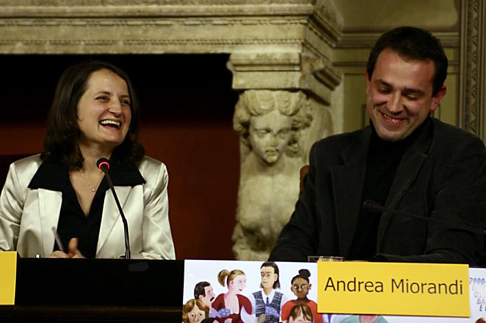 Luisa Chiodi e il sindaco di Rovereto Andrea Miorandi