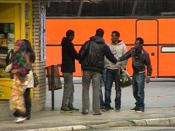 Immigrati a Banja Koviljača, Serbia (foto B92)