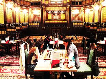 Torneo di scacchi presso il Palazzo Cotroceni