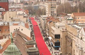 Sarajevo, fiume rosso, foto di M.Biava - www.balcanicaucaso.org