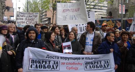 Pokret za slobodu durante uno sciopero