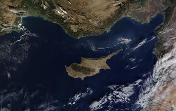 Cipro vista dal satellite