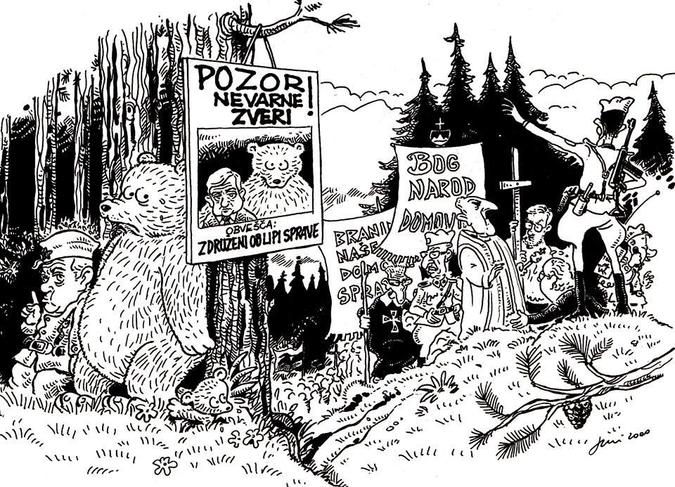 Una vignetta di Franco Juri