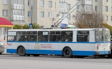 Filobus sovietici per le strade di Tiraspol