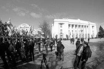 Kiev, protesters near the parliament , foto di Ivan Bandura - Flickr.com.jpg