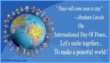 International peace day 2012 - logo