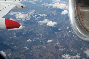 Albania vista dall'aereo