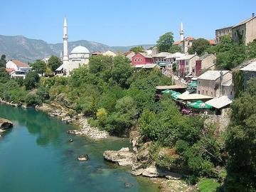 Vista su Mostar