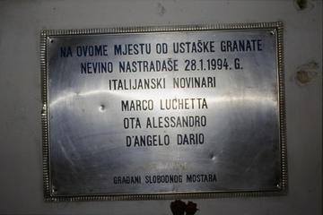 Mostar, targa commemorativa giornalisti Rai, di Paolo Corno da Obc