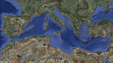 Mediterraneo, dal satellite