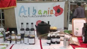 Lo stand dei produttori albanesi al Salone del Gusto 2012