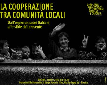 La cooperazione tra comunità locali