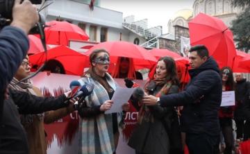 Una manifestazione di lavoratori del sesso in Macedonia del Nord