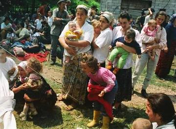 Selma Musić in Kladanj, July 1995