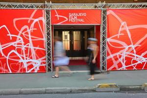 Uno degli ingressi alle sale del Sarajevo Film Festival