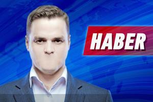 """Un uomo mezzo busto con la bocca cancellata e in alto a destra la scritta """"notizie"""" in turco"""
