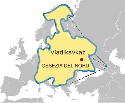 Mappa Ossezia del Nord