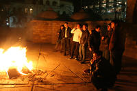 Every Tuesday night (Charshanba), small bonfires are prepared outside