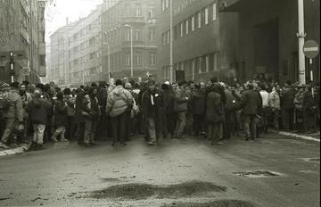 16 dicembre 1992, pacifisti italiani a Sarajevo (Foto Mario Boccia)