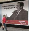 Manifesti elettorali di Milorad Dodik, nel centro di Banja Luka